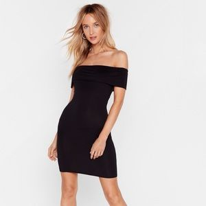 Nasty Gal Down Tonight off-the-shoulder dress